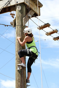 2012 Rookie Camp: Believe and Achieve Maddie Bowman Ropes course at the NAC for team building. Photo: USSA