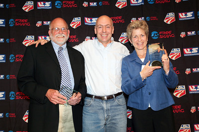 Burckett Dodge Award Bob Brigham and Jill Firstbrook received the USSA's Burckett Dodge Award for contribution to USSA Eastern officiating from USSA Chairman Dexter Paine.  2012 USSA Congress Awards Banquet at The Marriott in Park City, UT Photo: USSA