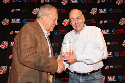 West Family Award – Bill Gaylord (Flagstaff, AZ) Presented in recognition of service as a USSA official.   Longtime international ski official Bill Gaylord (Flagstaff, AZ) was honored as recipient of the USSA's West Family Award in recognition of his long tenure of service to atheltes. Like many volunteer officials, Gaylord's tenure started in the '70s while he was shuttling his children to ski races. His passion for working as an official grew and outlasted his children's career. In 1989 he served in a key role with event timing at the FIS World Alpine Ski Championships in Vail/Beaver Creek, CO. Today, he continues as one of the many volunteers who are on-site every year for the Audi Birds of Prey World Cup at Beaver Creek and countless other competitions. The West Family Award is presented annually in the name of donor of the Fraser and Teddy West family. Fraser West has been a longtime USSA supporter and official.   Photo: USSA