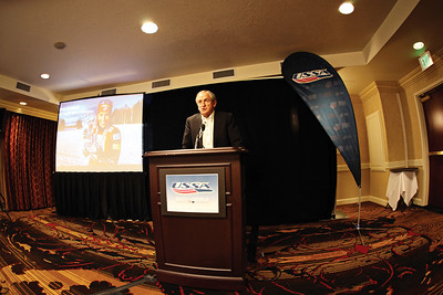 Bill Marolt gives his keynote speech on Friday, May 11th during the 2012 USSA Congress at the Marriott in Park City, UT. Photo: USSA