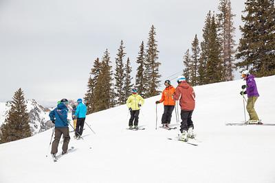 Athletes of the U.S. Ski Team 2014 PSIA/U.S. Ski Team certification at Snowbird Resort. Photo: Sarah Brunson/U.S. Ski Team