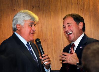 Jay Leno and Governor Herbert