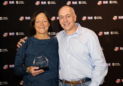 Al Merrill Nordic Award - Judy Geer and Dick Dreissigacker - Crafsbury Outdoor Center Chairman's Awards Dinner 2016 USSA Congress Photo: USSA