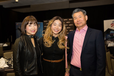 Chloe Kim with her parents Chairman's Awards Dinner 2016 USSA Congress Photo: USSA