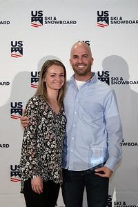 Jesse Mallis and his fiance Chairman's Awards Dinner 2018 U.S. Ski & Snowboard Congress Photo: U.S. Ski & Snowboard