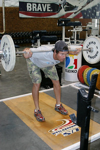 Alpine skier TJ Lanning trains at the current Park City training facility. Photo: Lindsey Sine/USSA