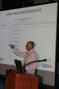 Andy Walshe presents the USSA High Performance model to USSA staff and the Board of Trustees