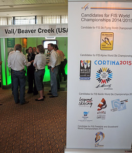 Beaver Creek/Vail bid for the 2015 FIS Alpine Ski World Championships is showcased at the FIS Congress in Antalya, Turkey. (USSA)