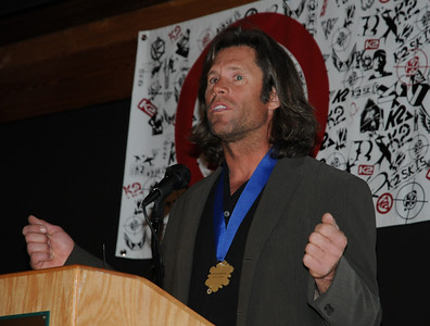 Nelson Carmichael at the induction ceremony for the U.S. Ski and Snowboard Hall of Fame, Deer Valley Resort, Park City, Utah