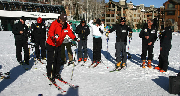 U.S. Ski Team's Ski for Gold High Performance Ski Clinic at Deer Valley Resort, featuring introduction of exclusive vLink technology. (Photo: Scott Sine)