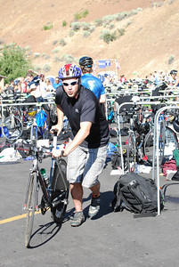 USSA employee Luke Boensteiner competes in the 10th Annual Jordanelle Triathlon Saturday, August 23, 2008 at the Jordanelle State Park in Park City, Utah. Distances were: swim - 1.5 km swim; bike - 40 km; run - 5.6 miles.