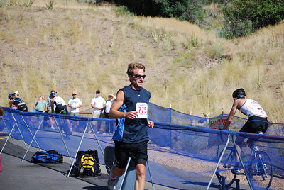 Former USSA employee Dale Schoon competes in the 10th Annual Jordanelle Triathlon Saturday, August 23, 2008 at the Jordanelle State Park in Park City, Utah. Distances were: swim - 1.5 km swim; bike - 40 km; run - 5.6 miles.