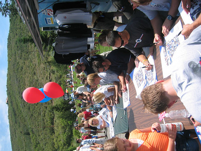 2006 Olympians signed autographs for fans in Park City's City Park.