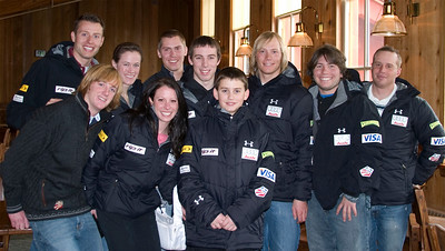 U.S. Ski Team Athletes and USSA Staff join Ryan Long for lunch at Deer Valley as a part of the Make-a-Wish program.