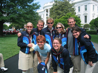 Members of the 2006 Olympic Cross Country Team on the South Lawn of the White House (May 17, 2006).