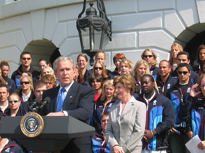 President Bush commends the 2006 Olympic and Paralympic athletes on their triumphs and how they all inspired the nation. (May 17, 2006)