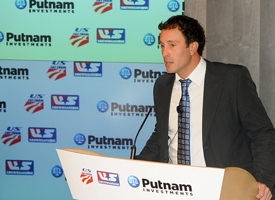 Two-time Olympic champion Seth Wescott. Partnership announcement press conference with Putnam Investments and the U.S. Ski Team and U.S. Snowboarding at Putnam's headquarters in Boston. (c) 2010 USSA