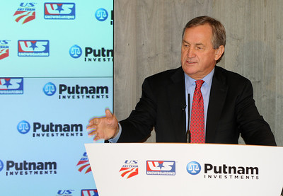 USSA President and CEO Bill Marolt. Partnership announcement press conference with Putnam Investments and the U.S. Ski Team and U.S. Snowboarding at Putnam's headquarters in Boston. (c) 2010 USSA
