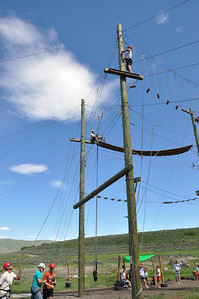 Rookies participate in the ropes course at the National Ability Center. June 24 2010 Rookie Camp Park City, UT