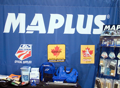 U.S. Ski Team supplier Maplus displays the Team logo at SIA.08 SnowSports Trade Show, Las Vegas. Photo: Tom Kelly/USSA