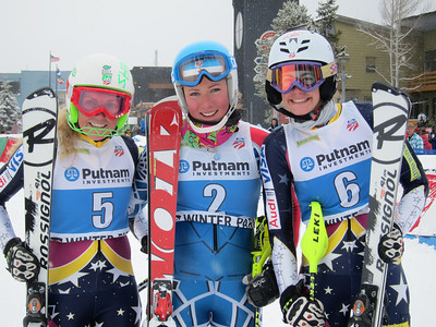 Sarah Schleper, Mikaela Shiffrin and Resi Stiegler went 2-1-3 in the women's slalom to wrap competition at Winter Park (Doug Haney/U.S. Ski Team)