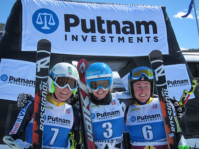 Sarah Schleper, Julia Mancuso and Stacey Cook finish 2-1-3 in the women's GS at Winter Park (Doug Haney/U.S. Ski Team)