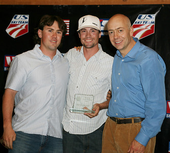 Mick Berry and Chris Marchetti accept the Freestyle Club of the Year Award for Park City Freestyle at the USSA Chairman's Awards Dinner May 18, 2007 Deer Valley, Park City, Utah Photo: Scott Sine