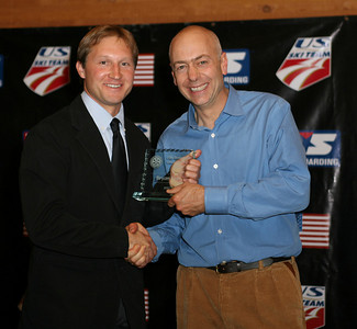 Bryan Fish accepts the Development Coach of the Year and Cross Country Domestic Coach of the Year at the USSA Chairman's Awards Dinner May 18, 2007 Deer Valley, Park City, Utah Photo: Scott Sine