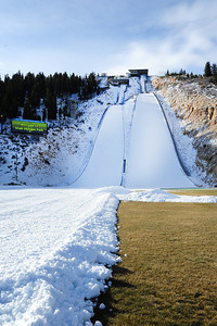 The Olympic K90 jump is ready to go for the season as the Utah Olympic Park preps for an early opening to pre-season training for the U.S. Ski Team. The jumps were the first Olympic sized hills in the world ready for training this season. (c) 2011 USSA/Tom Kelly