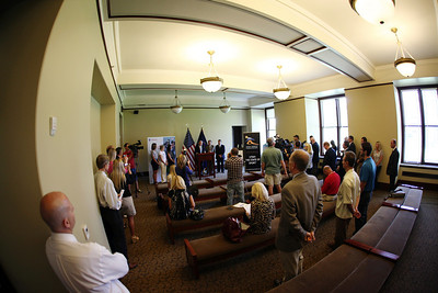 A packed room listens as an announcement is made at the Utah State Capitol that the Olympic governing body will bring some of its most important World Cup and Sprint U.S. Grand Prix events to Utah. Photo: USSA