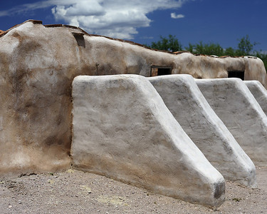 Part of the refurbished mission site at Tumacacori, Arizona.