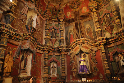 The interior of the San Xavier del Bac Mission, outside Tucson.