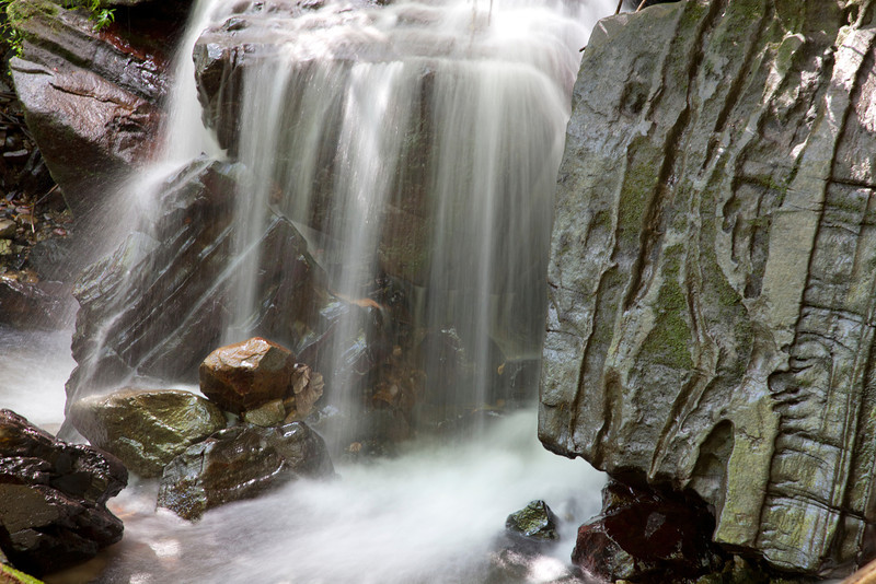 A small cascade in a stream in the Caribbean National Forest of El Yunque