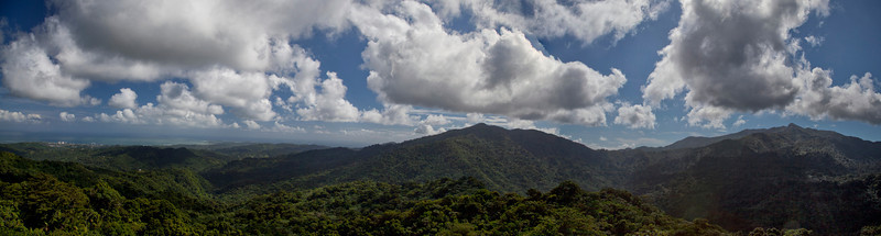 Panorama from Yokahu Tower in the Caribbean National Forest of El Yunque