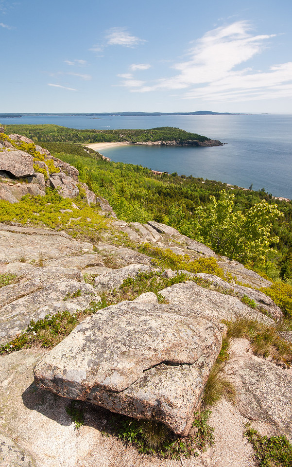 View of Sand Beach from Gorham Mountain, Acadia