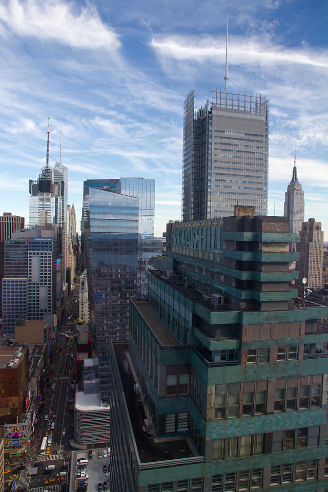 View from 42nd and 9th, NYC