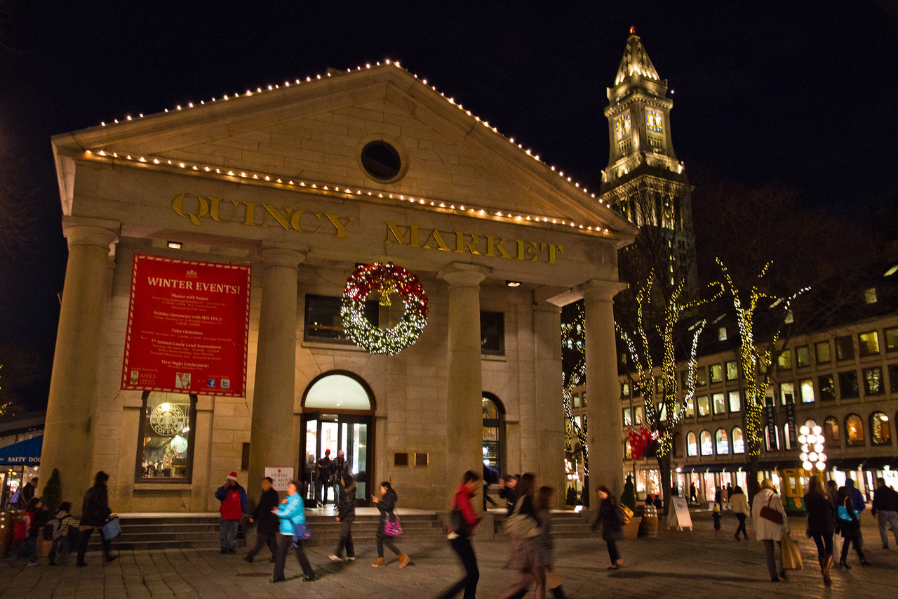 Quincy Market and the Custom House Tower, Boston