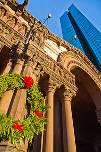 Trinity Church and the John Hancock Building, Copley Square, Boston
