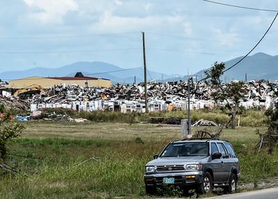 Post-Hurricane Debris in St. Thomas