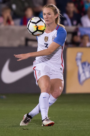The US Women's National Team (USWNT) vs New Zealand in an international friendly soccer game at Dick's Sporting Goods Park on September 15, 2017.  Final score of the game was USWNT - 3 and New Zealand - 1.