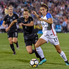 The US Women's National Team (USWNT) vs New Zealand in an international friendly soccer game at Dick's Sporting Goods Park on September 15, 2017.  Final score of the game was USWNT -  and New Zealand -
