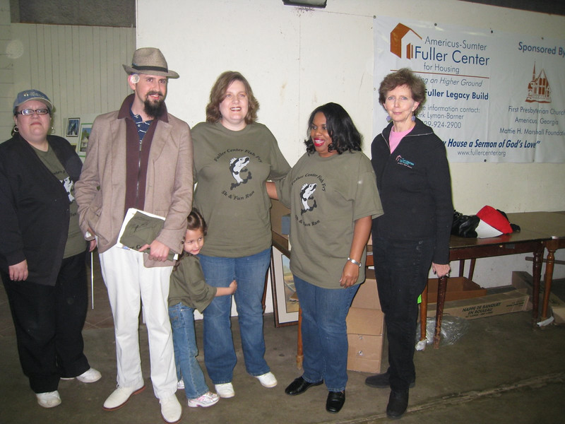 09 11-14 Fuller Center staff at Fish Fry & Auction Fundraiser lcf