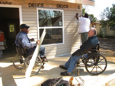 10 02-03 Thad Harris, left, and Chuck Davis will soon be neighbors.  ff