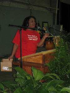09 11-14 Beverly Black of Atlanta, emcees at Fish Fry & Auction Fundraiser lcf