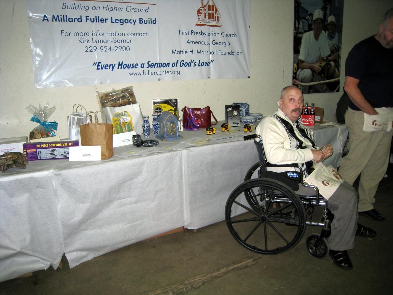 09 11-14 Chuck Davis, future homeowner at Fish Fry & Auction Fundraiser lcf