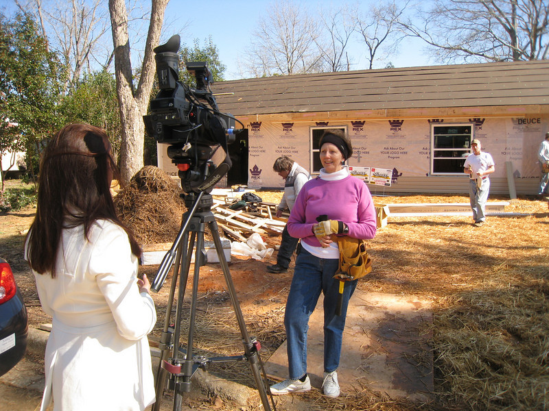 """10 02-03 Linda Fuller interview: """"Millard would be happy that we are remembering his death by working on a Fuller Center duplex.""""  ff"""