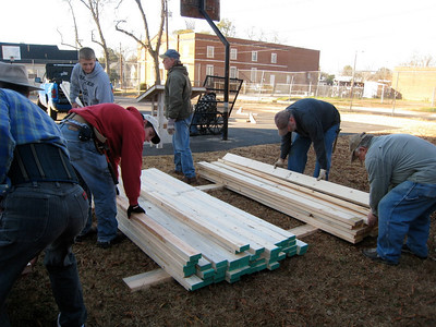 "10 1-17 MLK Day - Volunteers hammerin' out ""love between my brothers and sisters all over this land""  ky"