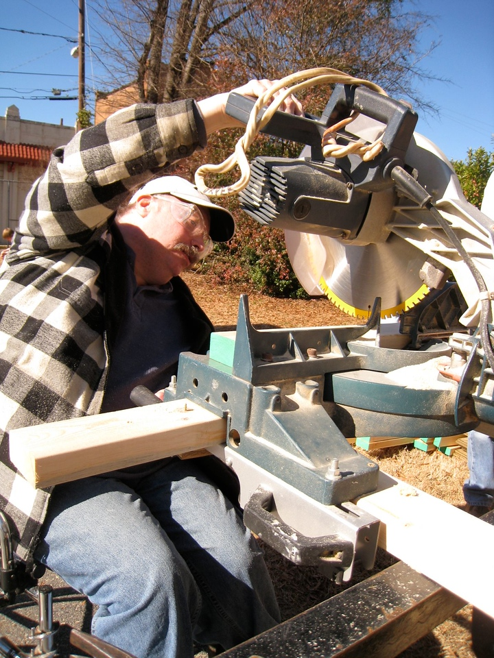 10 1-17 MLK Day - Chuck Davis using the table saw.  ky