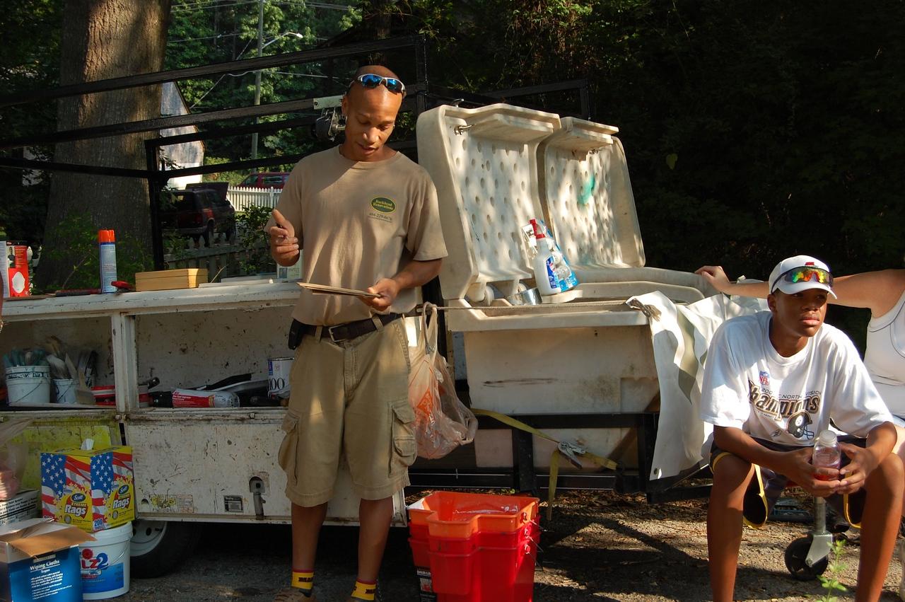 2008 07-19 Atlanta, GA - Construction leader giving work assignments to volunteers.