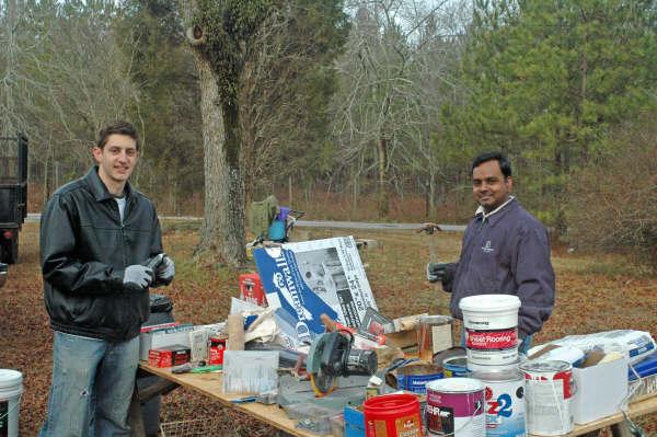 08 01 Ryan Iafigiola (FCH Student Builders Co-ordinator) and Sam Raj (FCH webmaster) pitch in on renovation work day